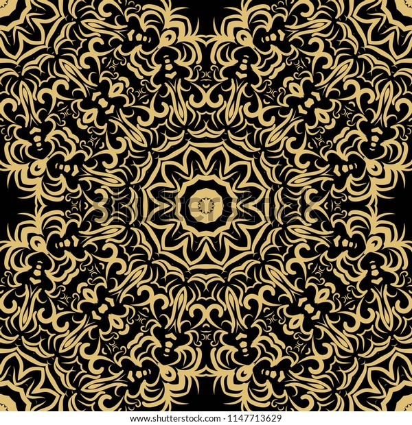 Lace seamless pattern. floral ornament. Creative   illustration. for design invitation, background, wallpaper