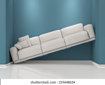 uncomfortable couch egg sofa between blue walls uncomfortable couch images stock photos vectors shutterstock