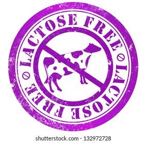lactose free grunge stamp, in english language
