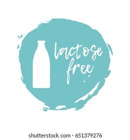 Lactose Free Label. Food intolerance symbols.