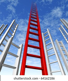 ladder of success climbing corporate risk competition choice sky is the limit