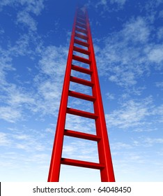 ladder success sky limit corporate climb growth progress