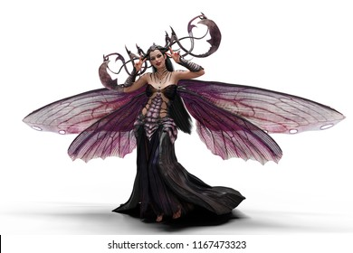 lady darkness queen 3d illustration