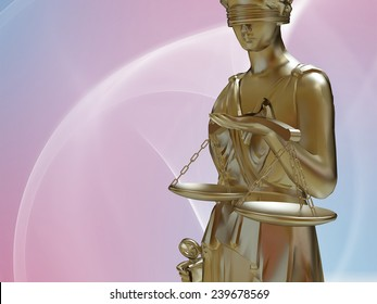 Lady of justice standing against blue sky
