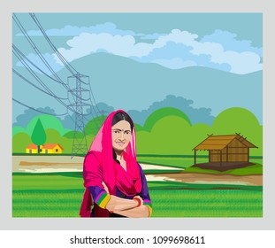lady standing in agriculture land
