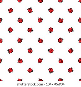 Ladybird seamless pattern, background, design of wrapping paper.