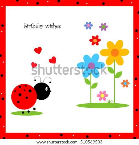 Ladybug Hearts And Flowers
