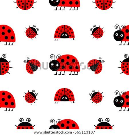 Royalty Free Stock Illustration of Ladybug Ladybird Icon Set Baby ...