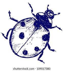 Ladybug. Raster