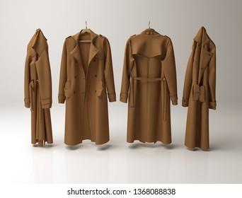 Lady's coat - 3D rendering