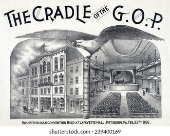 Lafayette Hall, Pittsburgh, PA where the newly established Republican party held its first convention in Feb. 1856.