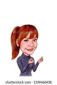 Lalisa Manoban better known by her stage name, Lisa, is a Thai rapper, singer, dancer and model, currently based in South Korea. She is a member of BLACKPINK. Illustration,Caricature,Design,15/3/2019