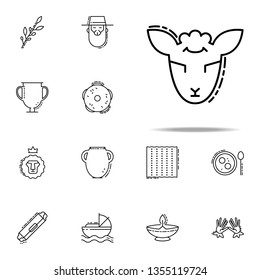 Lamb of God icon. Judaism icons universal set for web and mobile