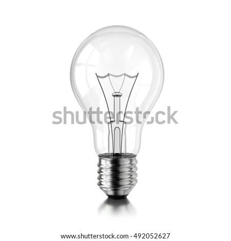 lamp bulb coil isolated on white stock illustration 492052627
