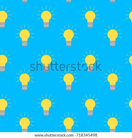 Lamp Bulb Idea Pattern Energy Light Stock Illustration 40 Amazing Pattern Energy Stock