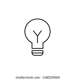 lamp icon. Element of education for mobile concept and web apps icon. Thin line icon for website design and development, app development. Premium icon on white background