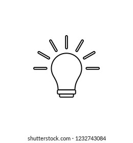 lamp icon. Simple outline illustration of education set for UI and UX, website or mobile application