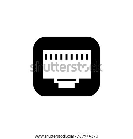 Lan Port Icon Pc Hardware Element Stock Illustration 769974370