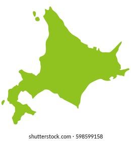 land shape of Hokkaido Japan