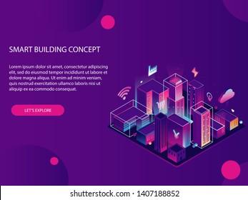 Landing page for smart city website.
