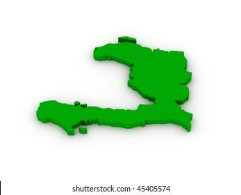 Lands of Haiti on white background.