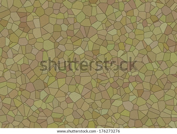 Landscape Design Stones Mosaic Wallpapers Pattern Stock