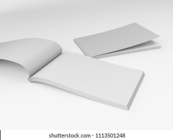Landscape Format Magazines. 3D render