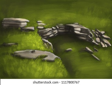 Landscape green Art