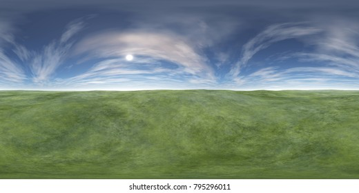 Landscape, HDRI, environment map, Round panorama, spherical panorama, equidistant projection 3d rendering