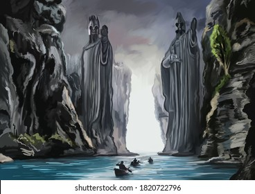 Landscape from the Lord of the rings movie