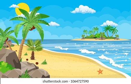 Cartoon Beach Sunset Images Stock Photos Vectors Shutterstock Find the best free stock images about cartoon beach. https www shutterstock com image illustration landscape palm tree on beach day 1064727590