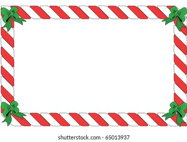 Landscape Red and White Candy Border