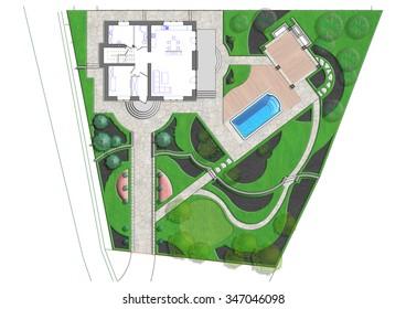 Landscaping master plan, 2D sketch