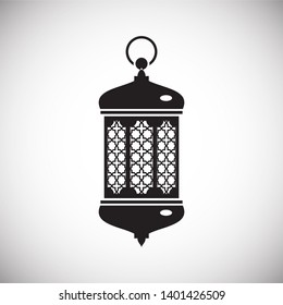 Lantern icon on background for graphic and web design. Simple illustration. Internet concept symbol for website button or mobile app