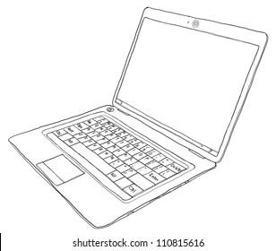 laptop b&w