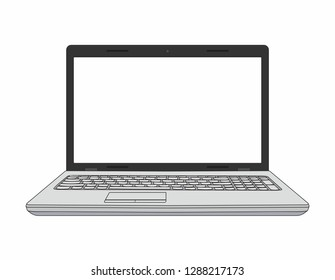 Laptop computer isolated on white background