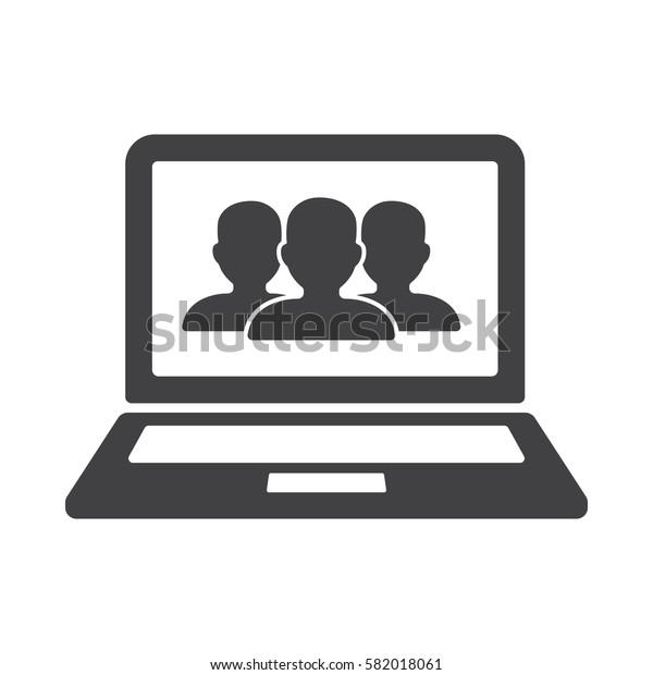 laptop, user icon.