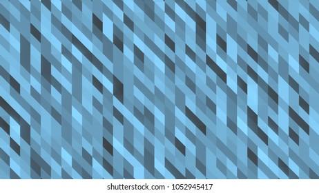 Large 3d background of blue geometric shapes