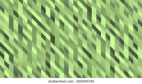 Large 3d background of green geometric shapes