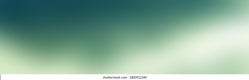 Large abstract wide gradient background blank with Moderate bluish green, Dream white color. Pure degrade banner design.
