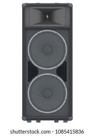 large black speaker texture 3d rendering
