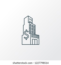 Large business icon line symbol. Premium quality isolated shopping mall element in trendy style.