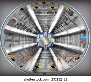 The large hadron collider illustration.