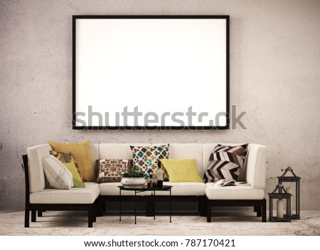 large picture frame living room frontのイラスト素材 787170421