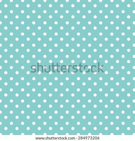 Large Polka Dot Pattern On Turquoise Background