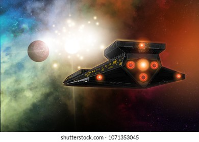 A large spaceship in the vastness of an infinite universe