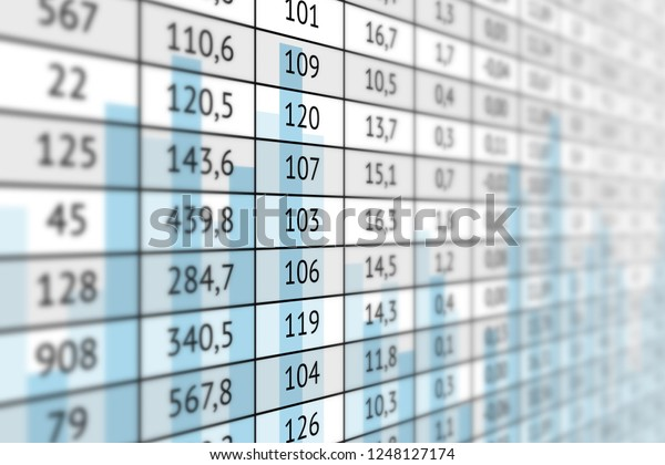 Incredible Large Table Numerical Data Statistic Graph Stock Download Free Architecture Designs Scobabritishbridgeorg