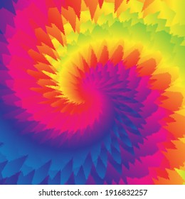 Large Tie Dye Background in Pink Blue, Green Yellow Orange Swirls for Sublimation Designs
