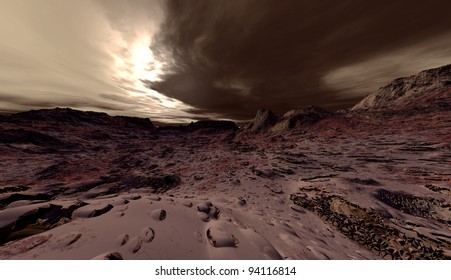 Large-scale planetary dust-storm on Mars