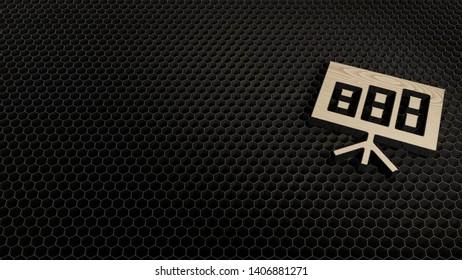 laser cut wooden 3d symbol of bar chart on flipchart render on metal honeycomb inside laser engraving machine